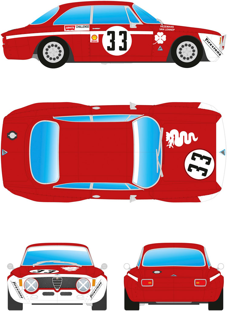 BRM Alfa GTA 1300 Junior  red+white # 33