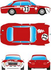 Alfa GTA 1300 Junior  red+white # 33