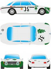 Alfa GTA 1300 Junior white+green # 35