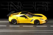 Corvette C7-R  testcar yellow